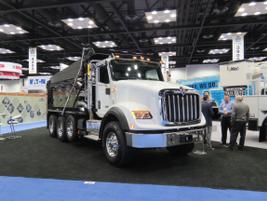 Navistar displayyed an array of heavy-duty International vocational trucks. Photo: David Cullen