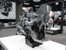 The Detroit DD8 medium-duty diesel was unveiled at the show.The 7.7L 6-cyl engines is aimed at...