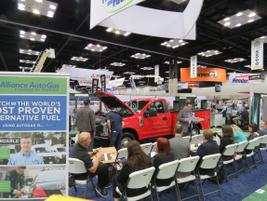 "Alliance Autogas hosting a ""live"" vehicle converion on the show floor. Photo:David Cullen"