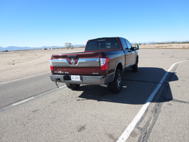 During the ride and drive, automotive journalists had the opportunity to drive the Titan XD on...