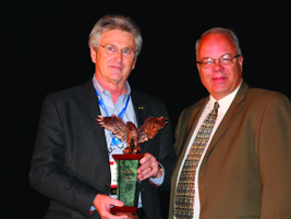 Ricky Beggs of Black Book received the Industry Leadership Award from CAR Chair and AF Editor...