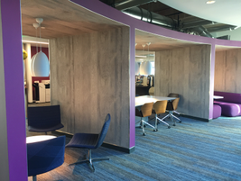 The 2.1 million square foot facility has an equal amount of collaborative work area as...