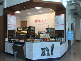 One of the many eateries within the Toyota HQ. Pictured is a juice bar. The HQ also includes a...