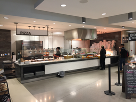 One of the many specialized food stations available at Toyota. The Pizza Station sells 190...