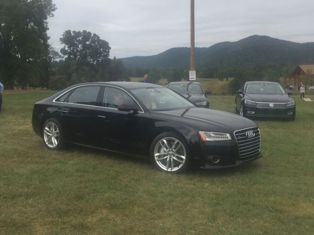 The A8 LWB 3.0T Quattro pulls out of the Marriott Ranch.