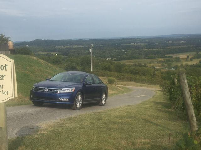 A Passat 1.8T SE pulls into the Bluemont Vineyard in Bluemont, Va.