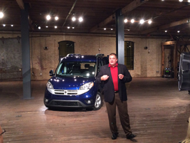 Bob Hegbloom, president and CEO of the Ram Truck, presented details about the ProMaster City...