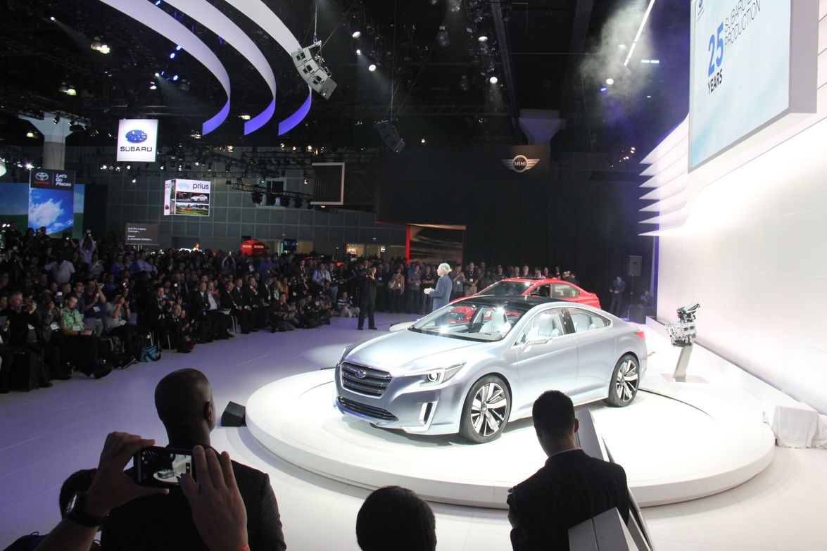 The new Subaru Legacy Concept celebrates the 25th anniversary of the Subaru Legacy mid-size sedan.
