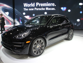 The 2014 Porsche Macan Turbo is powered by a twin-turbo 3.6L V-6 and will retail for $72,300.