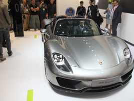 The Porsche 918 Spyder is a V-8 PHEV with a seven-speed transmission and top speed of 214 mph....