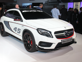 Mercedes-Benz GLA45 AMG concept showed a performance version of the GLA250.