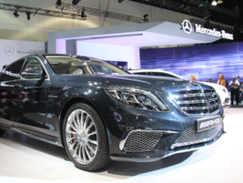 The 2015 Mercedes-Benz S65 AMG sedan is powered by a twin-turbocharged V-12 engine offering 621...
