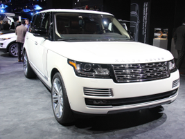 "Bond girl Berenice Marlohe of ""Skyfall"" helped unveil the ultra-luxurious Range Rover LWB..."