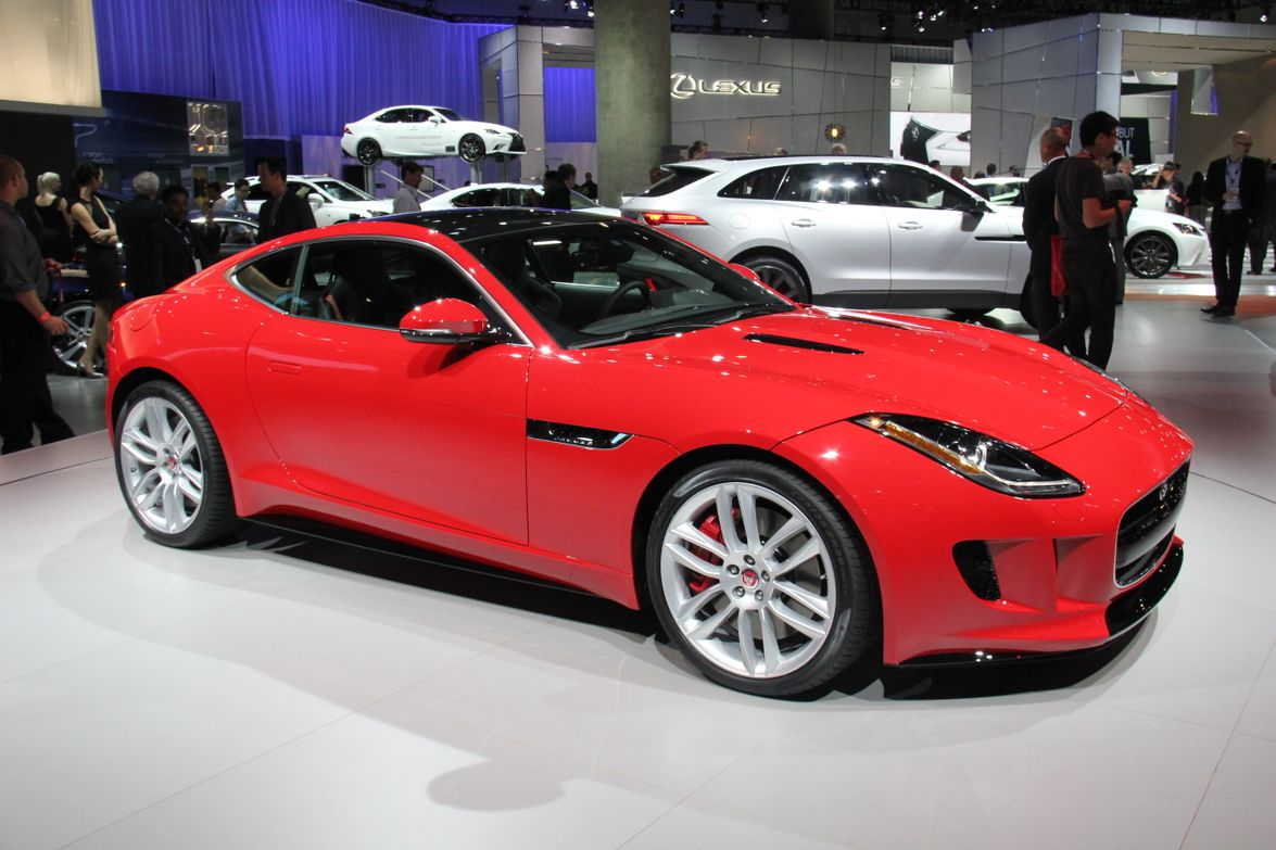 The Jaguar F-Type Coupe convertible's top-line trim level offers a supercharged V-8 that...