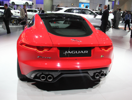 The Jaguar F-Type Coupe can reach a top speed of almost 190 mph.