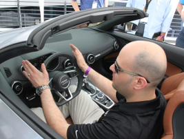 Anthony Garbis, an Audi product planner, discusses the TT's features.