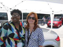 Florence McCrary of Genentech (left) and Debbie Struna of Volkswagen