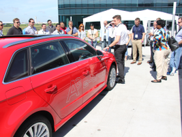 Jim Edwards, Audi e-mobility specialist, gives details about the 2016 A3 Sportback e-tron.