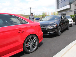 Attendees were given a chance to drive most Audi and Volkswagen models.
