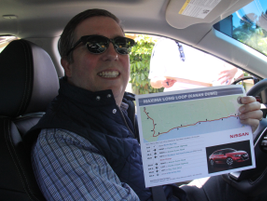 Chris shows the driving route on Pacific Coast Highway.