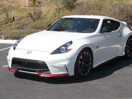The 2016 Nissan 370Z Nismo Tech 6M/T is powered by a 3.7L V-6 that makes 350 hp.