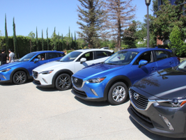 Mazda hosted a press event in Southern California to unveil the vehicle, which goes on sale in...