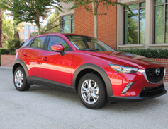 The CX-3 is powered by a 2.0-liter four-cylinder paired with a 6-speed automatic transmission.