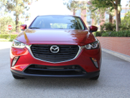 The CX-3 is available in front-wheel or all-wheel drivetrains. This photo shows the FWD model.