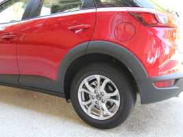 16-inch wheels are standard on the CX-3. Mazda offers 18-inch wheels.