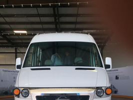 The all-electric Chanje V8070 van is estimated to have a range of 100 miles with a 3,000 lb....