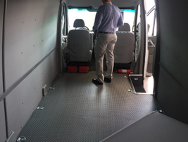 The V8070 provides a cavernous 580 cu. ft. of cargo area.