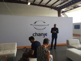 CEO Bryan Hansel spoke to media members.