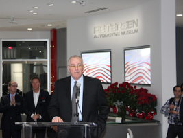 Terry Karges, executive director of the Peterson Automotive Museum, introduces the museum's...
