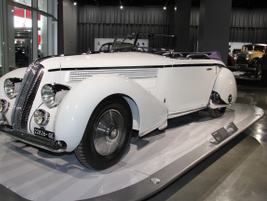 The 1935 Lancia Astura Cabriolet was powered by a narrow-angle V-8.