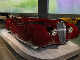 The 1939 Delahaye Type 165 represented France at the 1939 New York World's Fair.