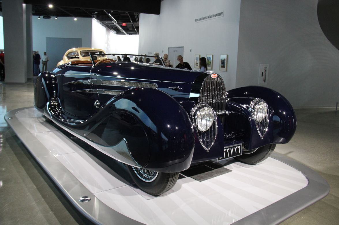 The 1939 Bugatti Type 57C was given to Mohammed Reza Pahlavi, the prince of Persia and future...