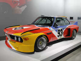 This BMW 3.0 CSL is an art car produced in 1975 by Alexander Calder.
