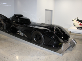 "This Batmobile was used in ""Batman"" (1989) and ""Batman Returns"" (1992)."