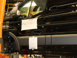 The vans get a Universal Product Code (UPC) that assists tracking of each job in the D Skid Area.