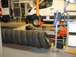 In the final step, wheels are added and a tire pressure monitoring system activates a TPMS chip...