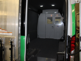 A fully carpeted interior cargo area serves a climate control services fleet that provides...