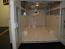 The KUV service body included plenty of room for tools and equipment in the cargo area.