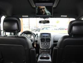 Rear passengers (second-row view) can view rear seat entertainment via physical media or via a...