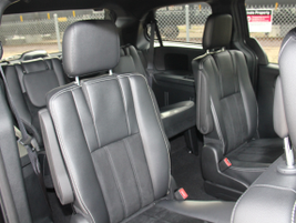 Rear seating accomodates three passengers on a third-row bench, and two passengers with...