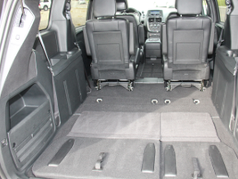 The van provides 143.8 square feet with the third-row seats folded down.