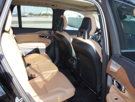 The XC90 seats up to seven in three rows of seating.