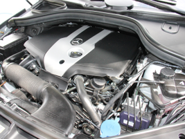 The GLE300d is powered by a 2.1L inline-4 twin-turbo diesel.