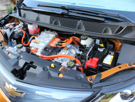 The Bolt EV uses three inverters to convert electrical current betweenAC to DC while it moves...
