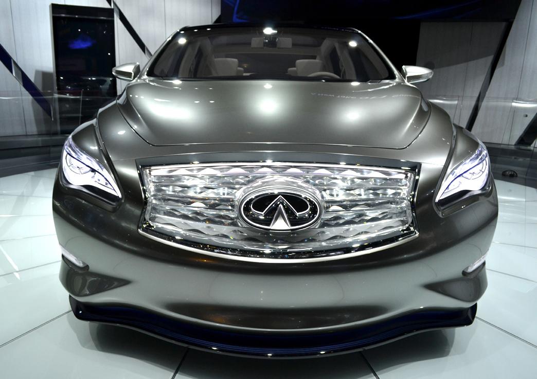 Infiniti showed its LE electric sedan concept at the LA Auto Show.