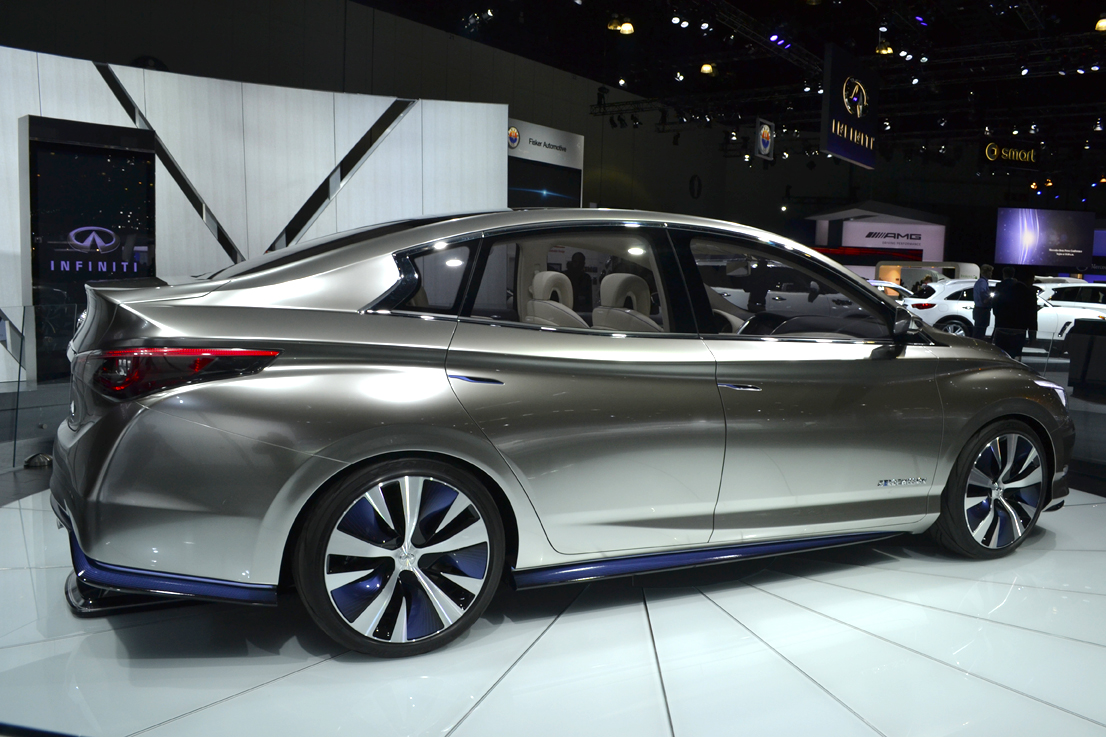 The Infiniti LE electric vehicle concept is designed to show the direction the brand is headed...